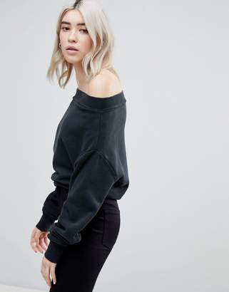 Cheap Monday Messy Off Shoulder Sweater