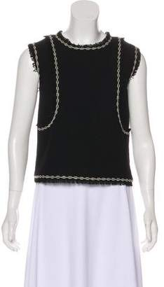 Chanel Sleeveless Tweed Top