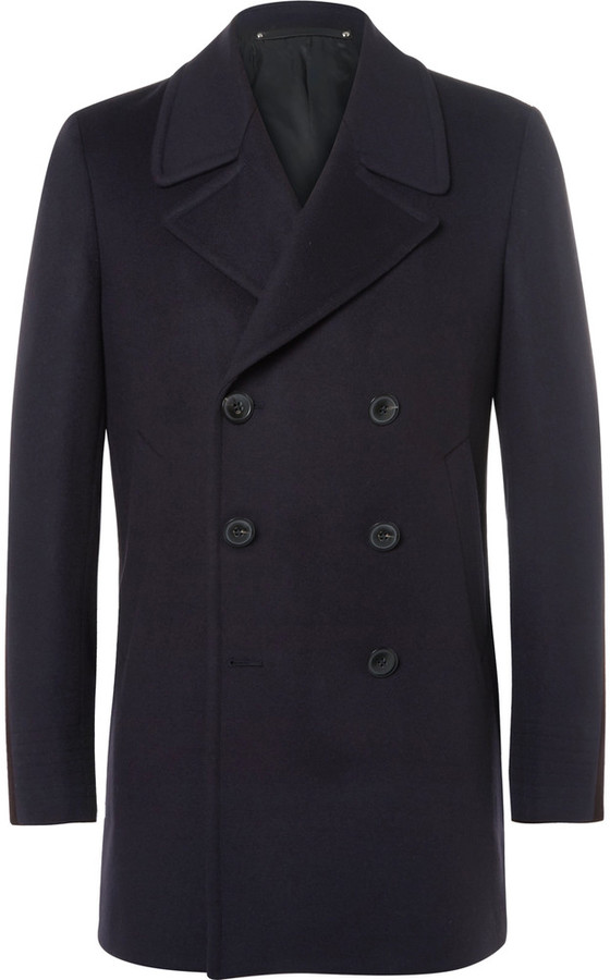 Paul SmithPaul Smith Slim-Fit Wool and Cashmere-Blend Peacoat