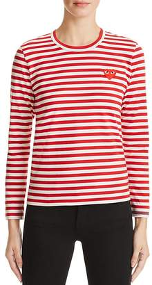 Comme Des Garcons PLAY Stripe Tee $155 thestylecure.com