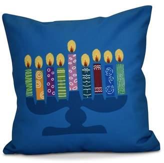 The Holiday Aisle Hanukkah 2016 Decorative Holiday Geometric Euro Pillow
