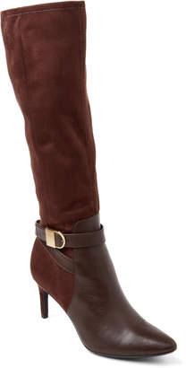 Calvin Klein Coffee Bean Jermanine Leather Knee High Boots