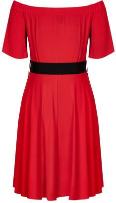 City Chic **City Chic Red Lady Valerie Dress
