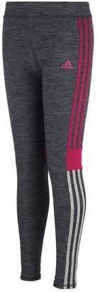 adidas Girls 4-6x Melange Striped Leggings