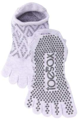 ToeSox Low Rise Diamond Full Toe Gripper Socks