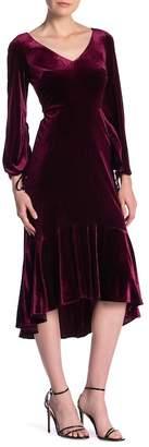 Taylor V-Neck Long Sleeve Velvet Dress