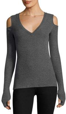 Feel The Piece Slim-Fit Cold-Shoulder Sweater