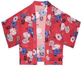 Seafolly NEW Tropical Vibes Kimono Coral