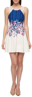 Guess Floral Fit-&-Flare Dress $128 thestylecure.com