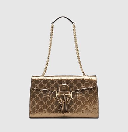 Gucci Emily Guccissima Leather Chain Shoulder Bag