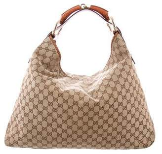 Gucci Large GG Horsebit Hobo