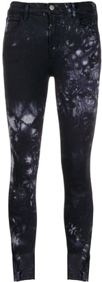 J Brand Mid-rise tie dye jeans
