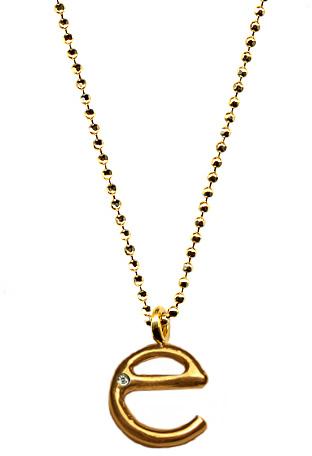 Ariel Gordon E Initial Pendant Necklace