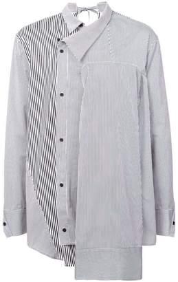 Bmuet(Te) striped asymmetric shirt