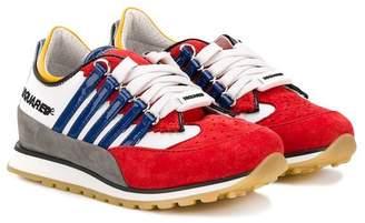 DSQUARED2 colour block trainers