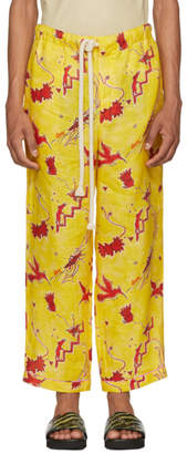 Loewe Yellow Paulas Ibiza Edition Bird Pyjama Trousers
