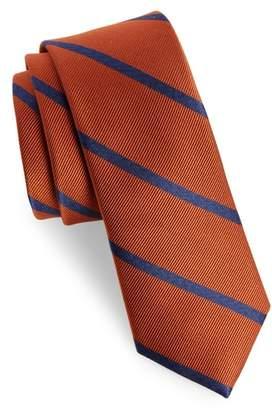 The Tie Bar Wheelhouse Stripe Silk Skinny Tie