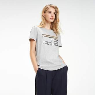 Tommy Hilfiger Tommy Icons Metallic Logo T-Shirt