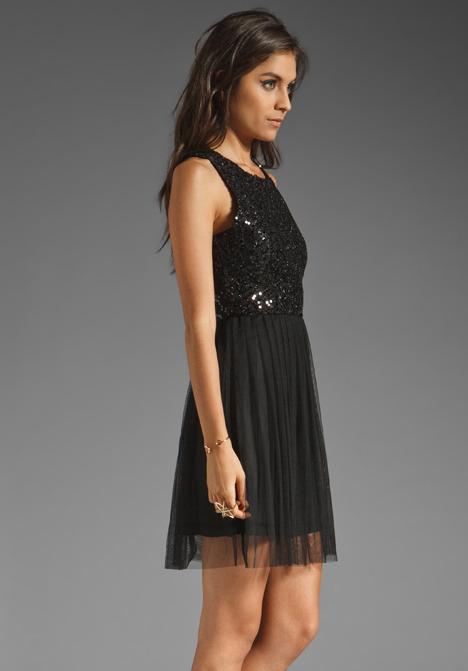 BB Dakota Koen Sequin Mesh and Tulle Dress