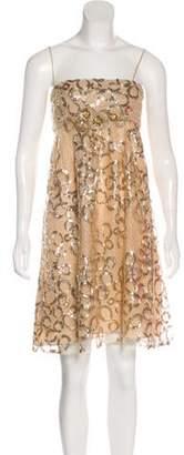 Blumarine Strapless Sequin Dress