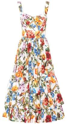 Dolce & Gabbana Floral printed cotton midi dress