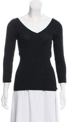 Dolce & Gabbana Rib Knit V-Neck Sweater