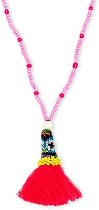 Panacea Pannee By Beaded Tassel Pendant Necklace