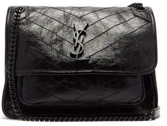 Saint Laurent Niki Medium Leather Shoulder Bag - Womens - Black