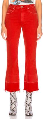 Amo Bella Released Hem Jeans in Cayenne | FWRD