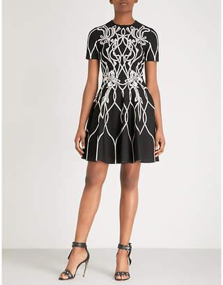 Alexander McQueen Floral-print stretch-jersey mini dress