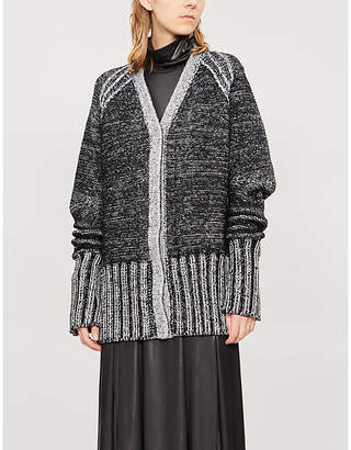 MM6 MAISON MARGIELA Metallic knitted cardigan