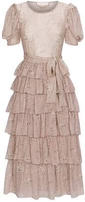LoveShackFancy Love Shack Fancy Roxanne Ruffle Midi Dress