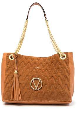 Mario Valentino Verra Quilted Leather Tote