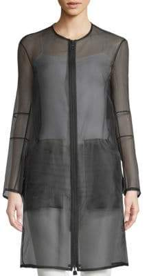 Akris Deidra Silk-Blend Sheer Jacket