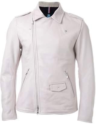 GUILD PRIME asymmetric zip up biker jacket