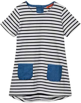 Funkyberry Striped T-Shirt Dress (Baby & Toddler Girls)