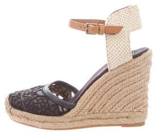 Tory Burch Lace Canvas Wedge Sandals