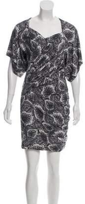 Yigal Azrouel Printed Silk Dress