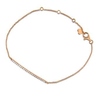 Cosanuova - Diamond Bar Bracelet 18k Rose Gold