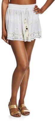 Ramy Brook Avi Embroidered Short Skirt