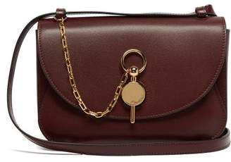 J.W.Anderson Keyts Leather Cross Body Bag - Womens - Burgundy