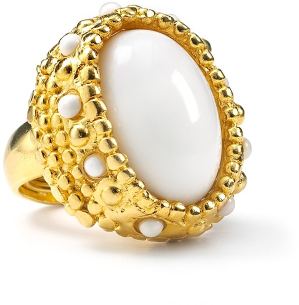 Kara By Kara Ross Oval Gemstone Cocktail Ring