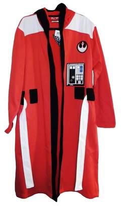 Star Wars First_Look REBEL ALLIANCE Orange Fleece BATHROBE With HOOD (Large/XL)