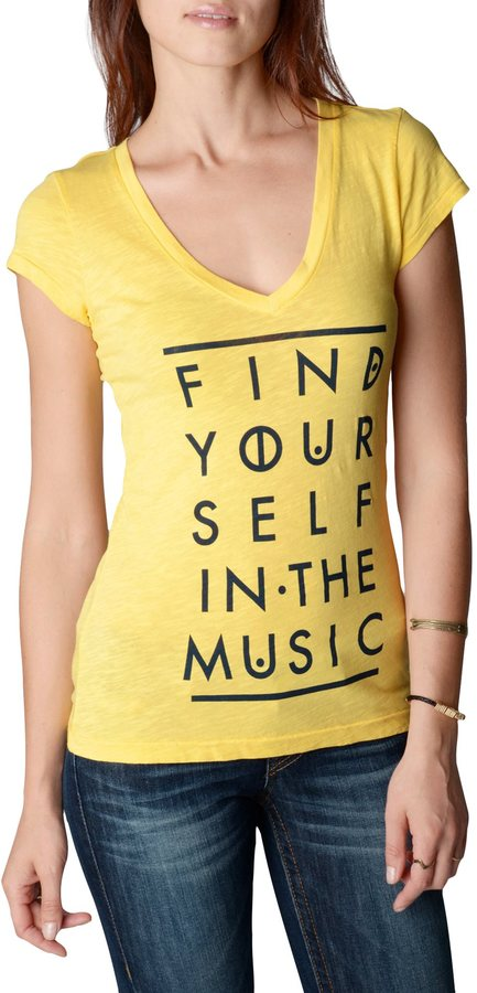 True Religion Find Yourself In The Music Vneck Womens T-Shirt