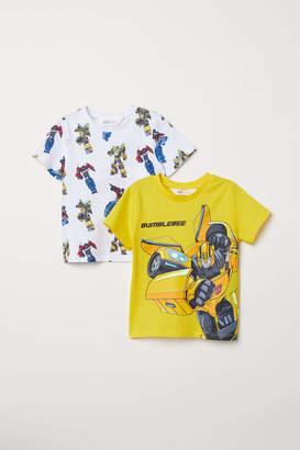 H&M 2-pack T-shirts - Yellow/Transformers - Kids