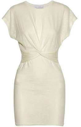 IRO Knotted Mlange Stretch-Jersey Mini Dress
