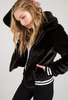 n:Philanthropy Gray Faux Fur Jacket