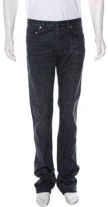 Christian Dior Washed Distressed Slim Jeans