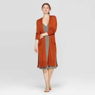 A New Day Women's Ribbed Cuff Long Sleeve Dust Cardigan