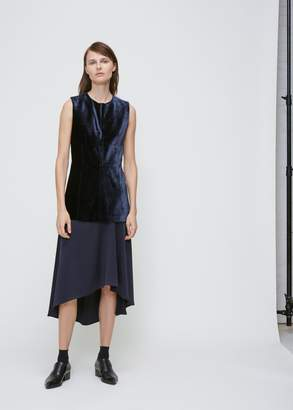 Cédric Charlier Velvet Silk Combo Dress
